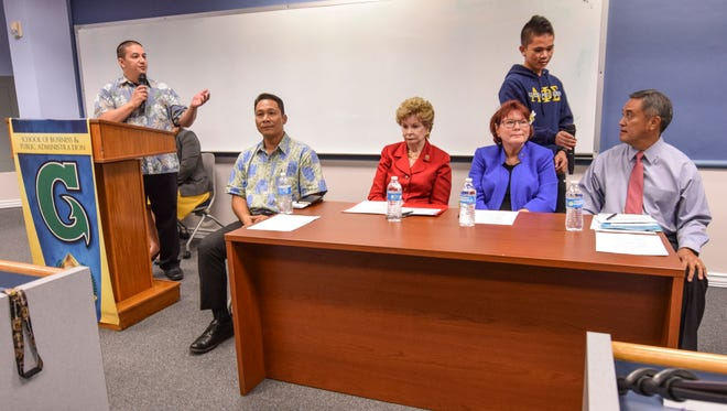 A congressional delegate candidate forum was held by the University of Guam's School of Business and Public Administration students and Legal Studies students on Wednesday, Aug. 24.