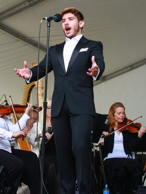Tenor Mario Rojas performs at Opera in the Park in Palm Springs on Sunday, April 10, 2016.