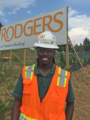 Sterling Green interned with Rodgers Builders, the company building Greenville Tech's Center for Manufacturing Innovation .
