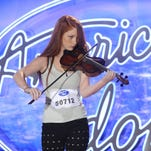 """Amelia Eisenhauer performs in front of the judges on """"American Idol."""""""
