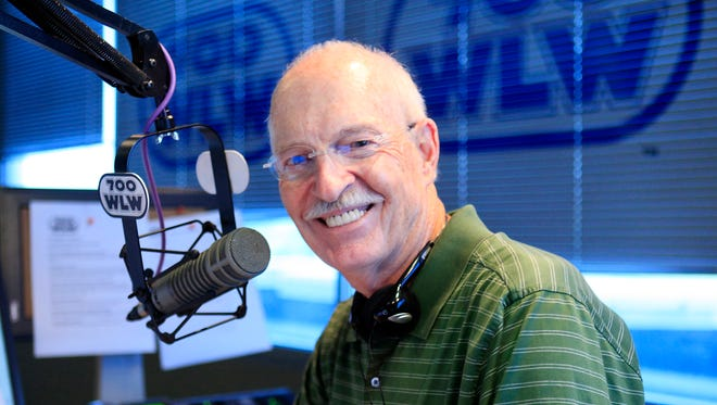 WLW-AM (700) morning talk-show host Jim Scott in his Clear Channel radio studio in Kenwood.