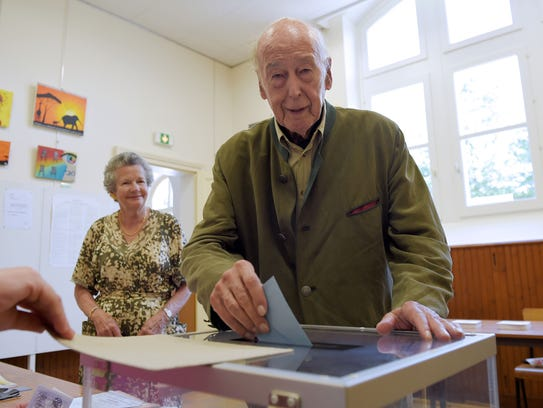 Former French president Valery Giscard d'Estaing and