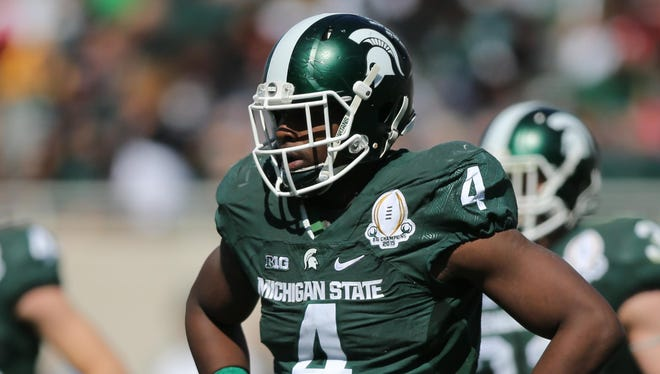 Michigan State Spartans defensive lineman Malik McDowell.