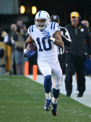Donte Moncrief, shown here against Pittsburgh, is one of a number of productive Colts rookies.