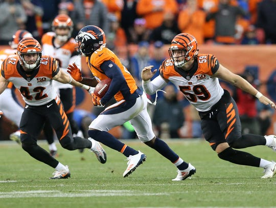 Cincinnati Bengals strong safety Clayton Fejedelem