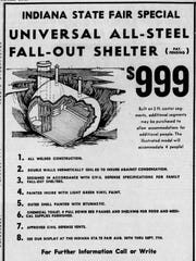 Fallout shelter ad in the Indianapolis Star in 1961