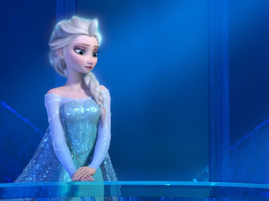 "The next 'Frozen' film will appear on a Disney-branded streaming service after its 2019 theatrical run, the studio announced Tuesday, Aug. 8, 2017. This image provided by Disney shows a teenage Elsa the Snow Queen, voiced by Idina Menzel, in a scene from the animated feature ""Frozen."""