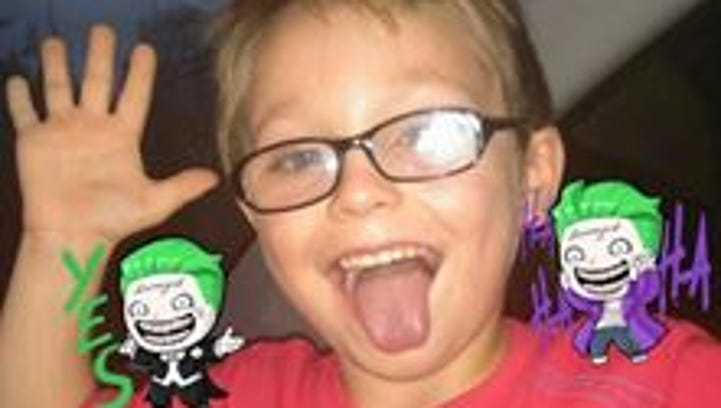 Jacob Hall, 6, who was shot in the leg at Townville