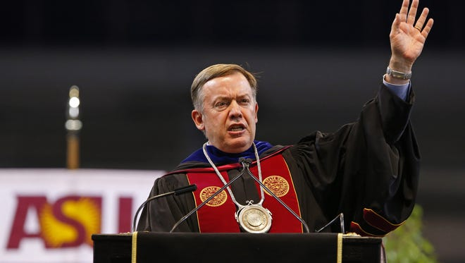 ASU President Michael Crow says he believes Arizona should aim for a statewide goal of 60 percent adults with college degrees.