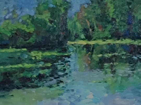 Cheryl Widner painted Quarton Lake Morning, one of hundreds of exhibits in the show.
