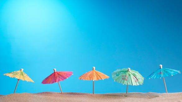beach umbrellas paper