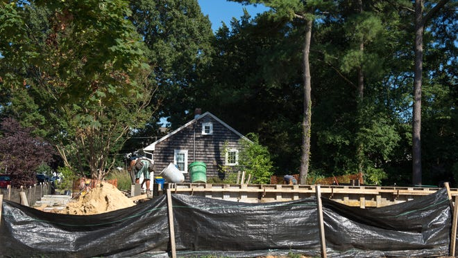 Construction for a new house on Scarborough Ave in Rehoboth Beach.