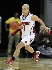 "Caption: By John Sommers II, Special to The Courier-Journal  ""She looks like she wouldn't hurt a fly,"" U of L coach Jeff Walz said of Shelby Harper. ""When you put her on that basketball court, she'll run you over. She's tenacious."""