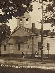 Breesport Baptist Church opened in September 1867, near where the current church sits.
