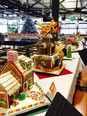 Gingerbread houses at the public market.