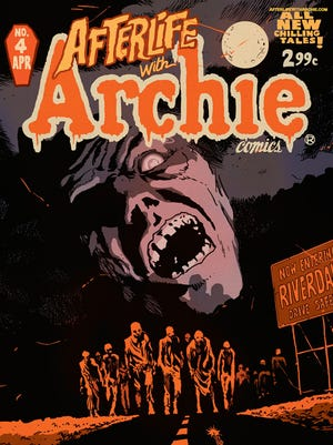 """The zombie apocalypse continues in Riverdale in the fourth issue of """"Afterlife with Archie."""""""