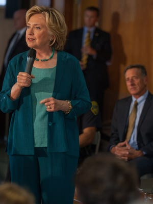 Vermont Gov. Peter Shumlin appeared with Democratic presidential candidate Hillary Clinton on Sept. 17 in Laconia, NH, for a roundtable discussion on substance abuse. Shumlin joined Clinton's state leadership council Friday.