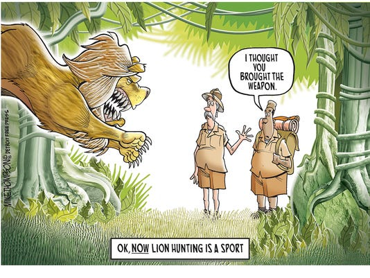 Hunting for lions