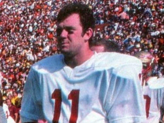 Florida State quarterback Rick Stockstill (11) at Florida
