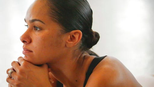 """In this March 21, 2017 photo, Misty Copeland, first African-American female principal dancer with the American Ballet Theatre, appears at the Steps on Broadway dance school in New York. Copeland's book, """"Ballerina Body: Dancing and Eating Your Way to a Leaner, Stronger, and More Graceful You,"""" compiles her advice for healthy living."""