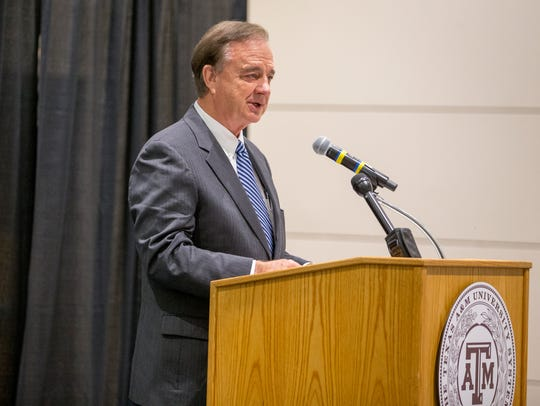 Texas A&M University System Chancellor John Sharp speaks