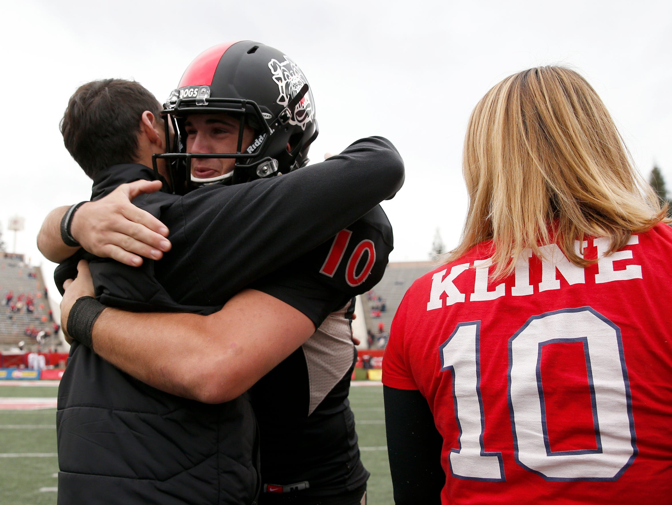 There was a lot that went into the hugs Kline shared