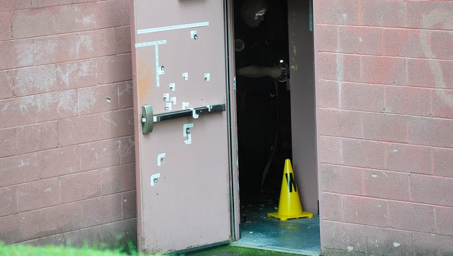 Police fired dozens of shots during the incident with Vincente David Montano at an Antioch theater on Aug. 5, 2015.