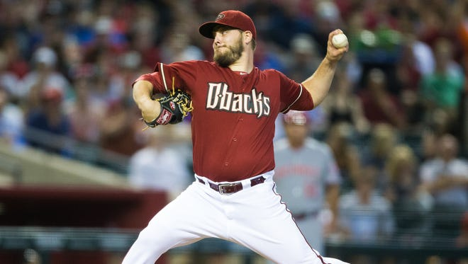 Diamondbacks pitcher Wade Miley throws against the Reds at Chase Field in Phoenix during the 2014 season.