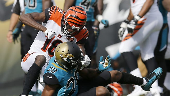 Cincinnati Bengals wide receiver A.J. Green was not suspended for throwing punches at Jacksonville Jaguars cornerback Jalen Ramsey on Nov. 5.