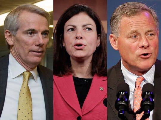 Republican Sens. Rob Portman of Ohio, Kelly Ayotte