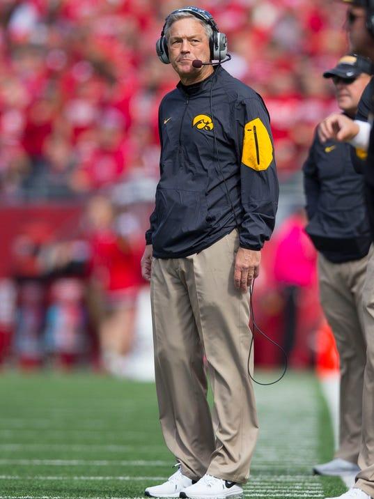 NCAA Football: Iowa at Wisconsin