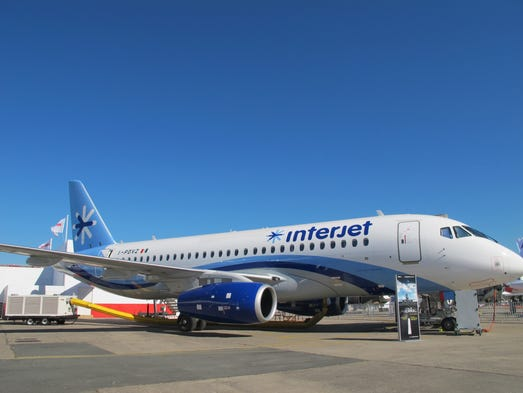 The Russian-made Sukhoi Superjet 100 was among the