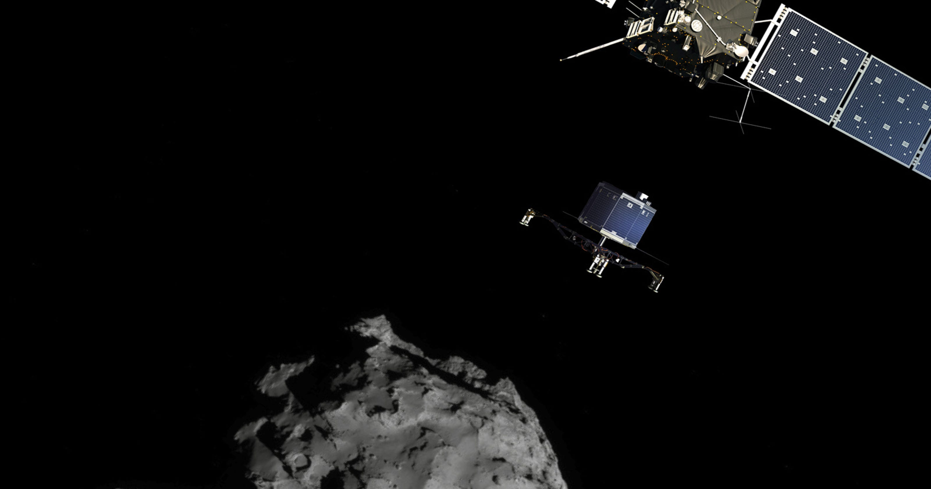 touchdown! rosettas philae probe lands on comet - HD 1484×1122