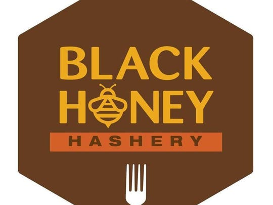 Logo for the Black Honey Hashery in De Pere.