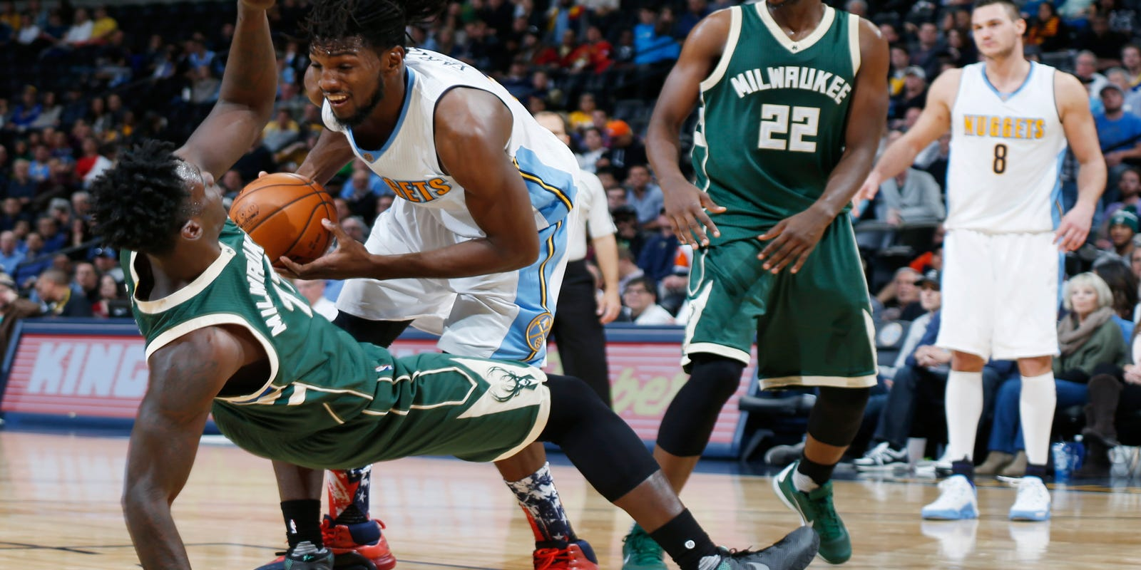 Faried's putback lifts Denver past Milwaukee 103-102