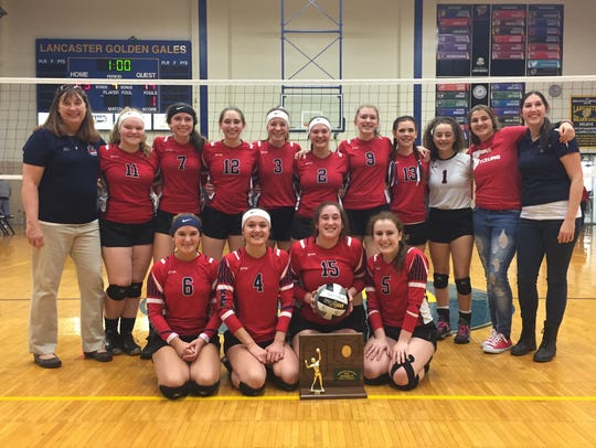 Members of the Fairfield Christian Academy volleyball