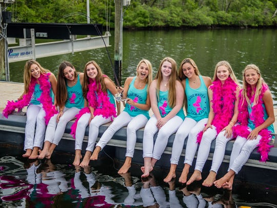Teen Babe members, pictured from left, are Morgan Sousa, Lindsey Suncine, Sophie Smith, Olivia Schmidt, Corri Kirvin, Eva Kamp, Catherine Dunkin and Elle McGould.