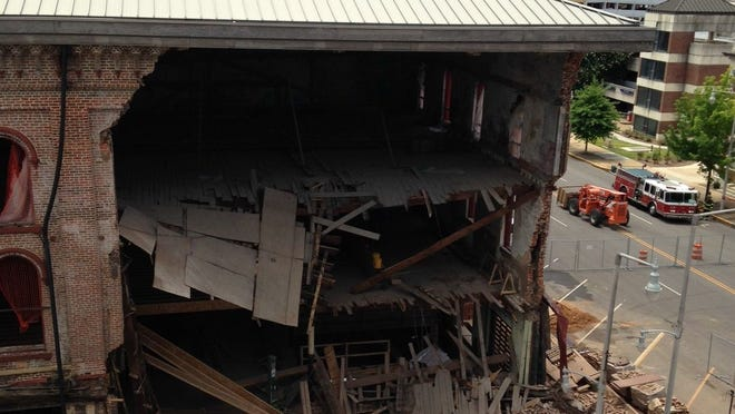 A portion of the Webber building has collapsed in downtown Montgomery.