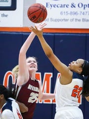 Riverdale's Alexis Whittington (left) and Blackman's