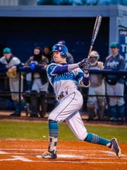 Siegel's Drew Benefield takes a swing during Wednesday's 18-8 win over Stewarts Creek.