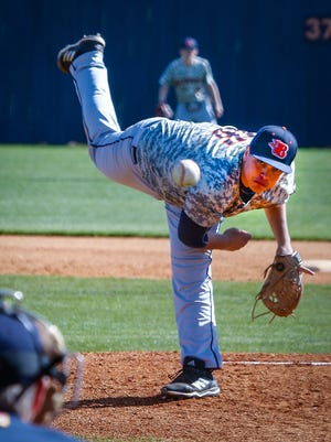 Blackman's Mateo Lozano fired a five-inning two-hitter in a 10-0 win over Dickson County Saturday.
