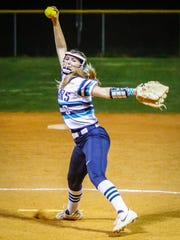 Siegel pitcher Sophie Golliver fires plateward during Tuesday's game against Blackman.