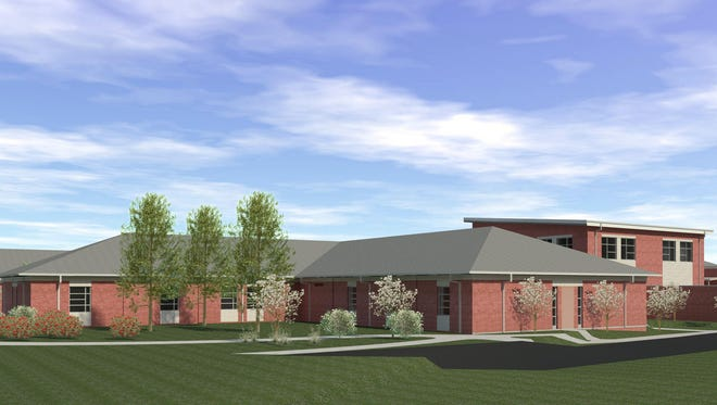 This architect's drawing shows a 72-bed psychiatric hospital that is being built by Strategic Behavioral Health in Green Bay, Wis. The company plans a similar facility in Bettendorf, Ia.