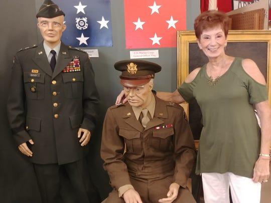 Artist Mary Anne Passatore said her favorite recreation is that of Gen. Dwight D. Eisenhower.