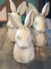 Ceramic bunny  heads, $17 at Nadeau