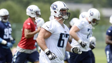 Titans guard Andy Levitre was healthy during offseason practices.