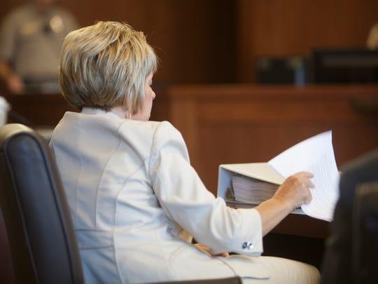 Deputy County Attorney Angela Adams during closing