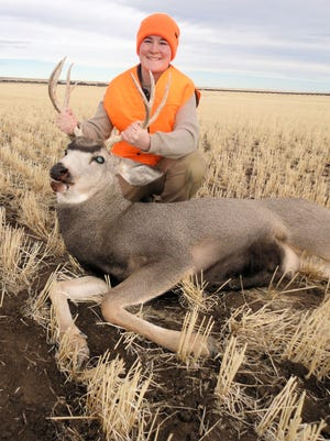Ember Blaine, 14, got this mule deer buck on Nov. 22, 2017.