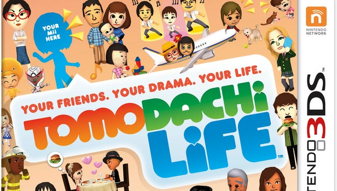 This photo provided by Nintendo shows the cover of the video game Tomodachi Life.