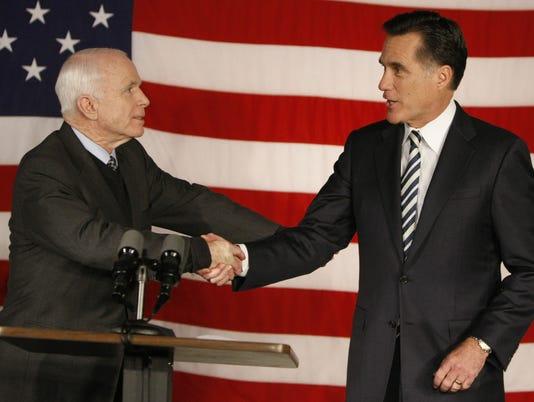 John McCain, Mitt Romney